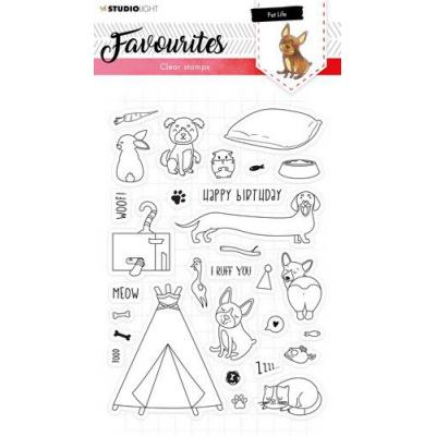 StudioLight Clear Stamps - Favourites nr. 423 Haustiere