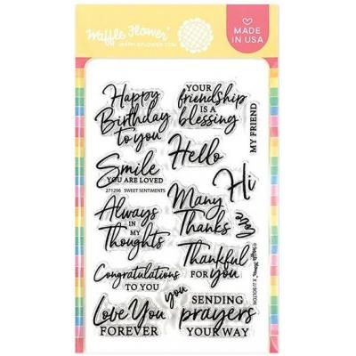 Waffle Flower Clear Stamps - Sweet Sentiments