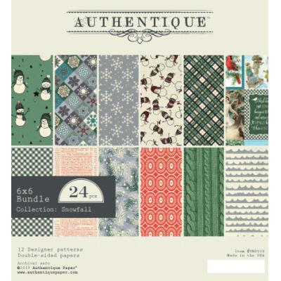 Authentique Snowfall Designpapier - Paper Pad