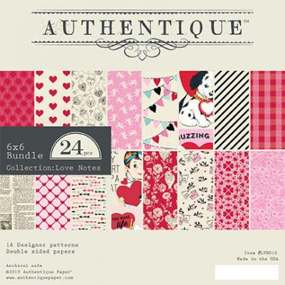 Authentique Love Notes Designpapier - Paper Pad