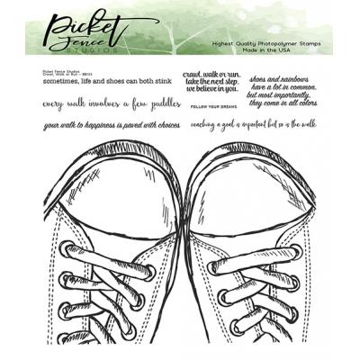 Picket Fence Studios Clear Stamps -  Walk, Crawl or Run