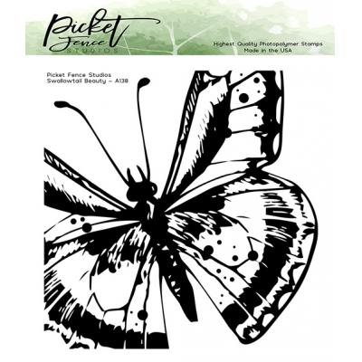 Picket Fence Studios Clear Stamp - Swallowtail Beauty