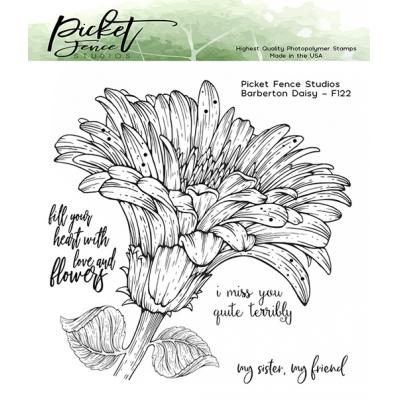 Picket Fence Studios Clear Stamps - Barberton Daisy