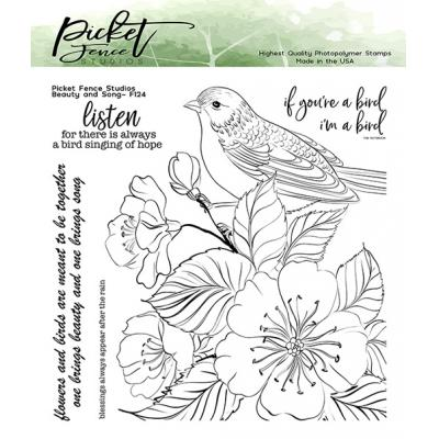 Picket Fence Studios Clear Stamps - Beauty and Song