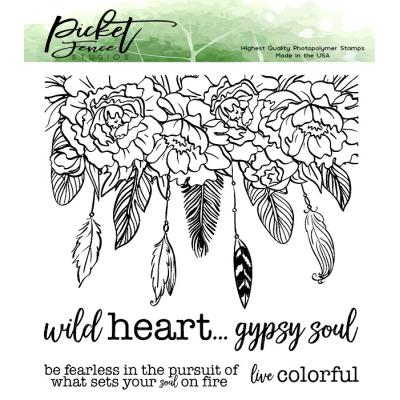 Picket Fence Studios Clear Stamps - Wild Heart Gypsy Soul