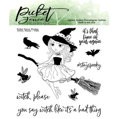Picket Fence Studios Clear Stamps - Witch, Please