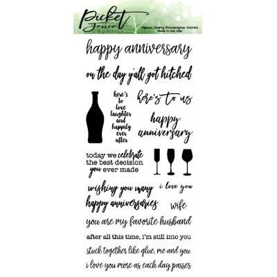 Picket Fence Studios Clear Stamps - Ways To Say Happy Annivesary