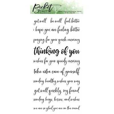 Picket Fence Studios Clear Stamps - Ways To Say Get Well