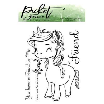 Picket Fence Studios Clear Stamps - Unicorn Friend