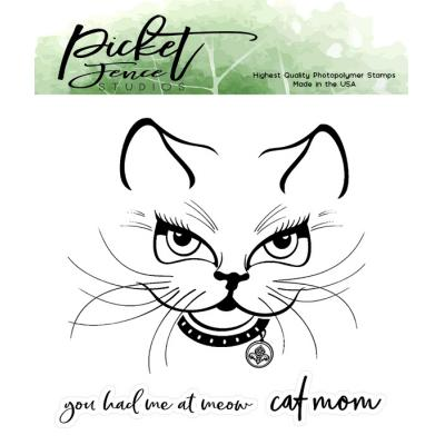 Picket Fence Studios Clear Stamps - Sophie Kitten