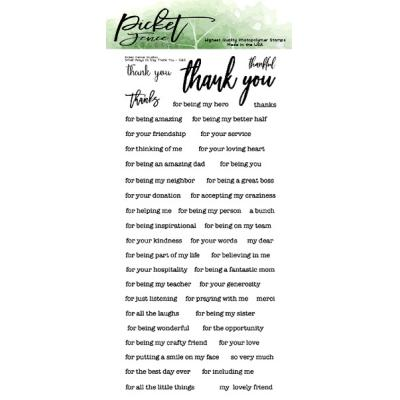 Picket Fence Studios Clear Stamps - Small Ways To Say Thank You
