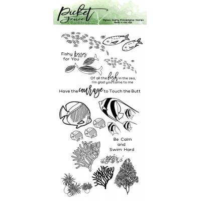Picket Fence Studios Clear Stamps - Schools of Fish