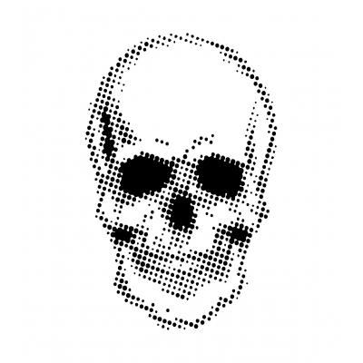 Creative Expressions Andy Skinner Stencil - Half Tone Skull