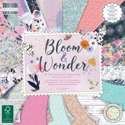 First Edition Bloom and Wonder Designpapier - Paper Pad