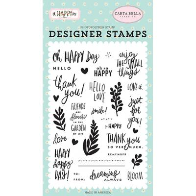 Carta Bella Oh Happy Day Clear Stamps - Happy Happy Day