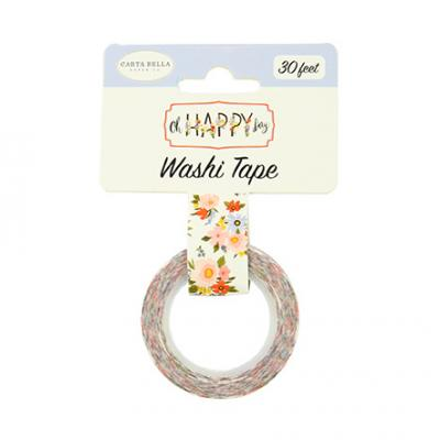 Carta Bella Oh Happy Day Washi Tape - Floral
