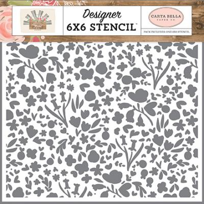 Carta Bella Farmhouse Market Stencil - Garden Bloom