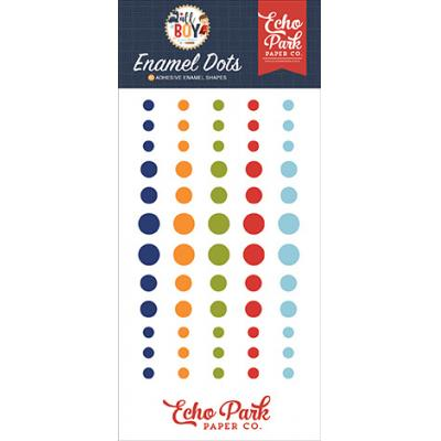 Echo Park All Boy Embellishments - Enamel Dots