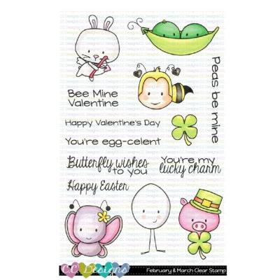 C.C. Designs Clear Stamps - February & March