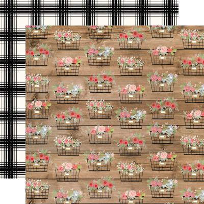 Carta Bella Farmhouse Market Designpapier - Baskets