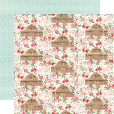 Carta Bella Farmhouse Market Designpapier - Barn Floral
