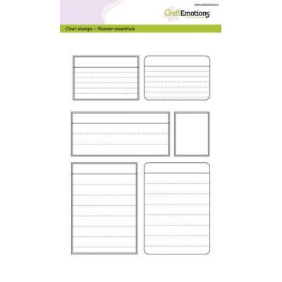 CraftEmotions Clear Stamps - Planner Essentials Frames