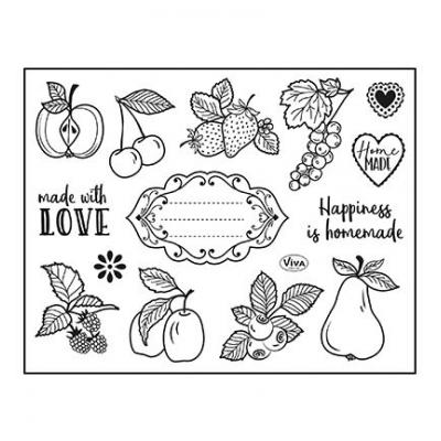 ViVa Clear Stamps - Happiness Is Homemade