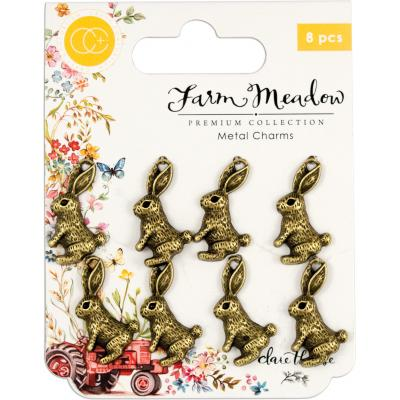 Craft Consortium Farm Meadow - Rabbits Hase Metal Charms