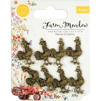 Craft Consortium Farm Meadow - Rooster Hahn Metal Charms