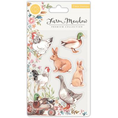 Craft Consortium Farm Meadow Clear Stamps - Animals