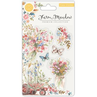Craft Consortium Farm Meadow Clear Stamps - Florals