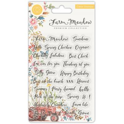Craft Consortium Farm Meadow Clear Stamps - Sentiments