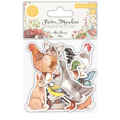 Craft Consortium Farm Meadow - Animals Wood Shapes
