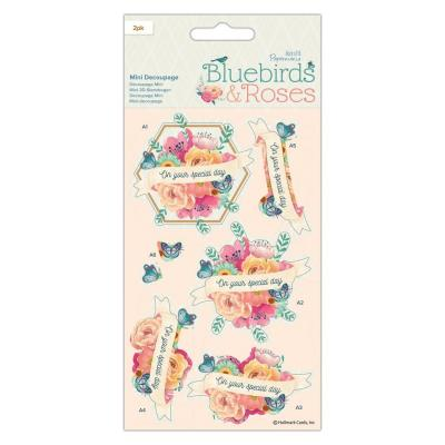 Papermania Bluebirds & Roses Die Cuts - Mini Decoupage Roses
