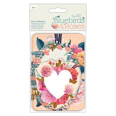 Papermania Bluebirds & Roses Die-Cuts - Notelets
