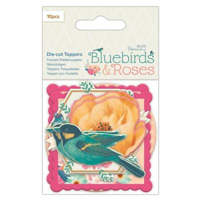 Papermania Bluebirds & Roses Die-Cuts - Toppers