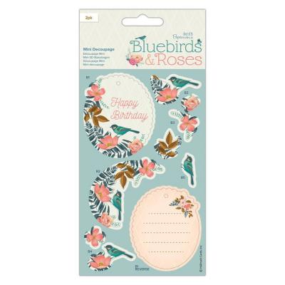 Papermania Bluebirds & Roses - Mini Decoupage Bluebirds Die-Cuts Bluebirds