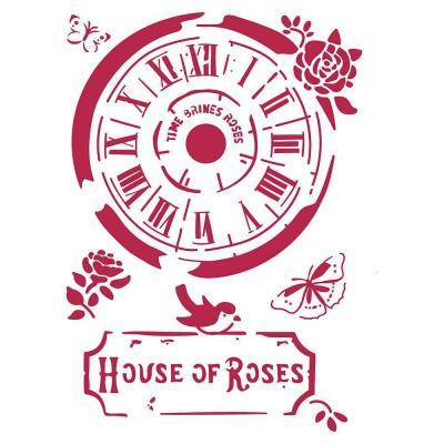 Stamperia Stencil - Clock House of Roses