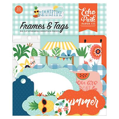 Echo Park Summertime Die Cuts - Frames & Tags
