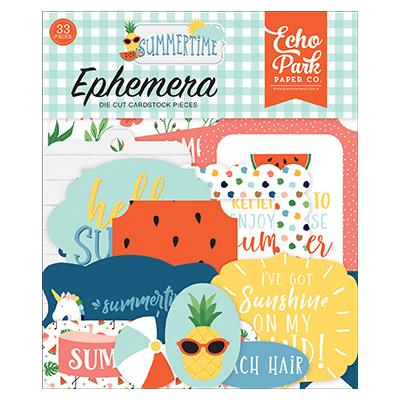 Echo Park Summertime Die Cuts - Ephemera