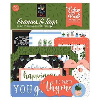 Echo Park Plant Lady Die Cuts - Frames & Tags