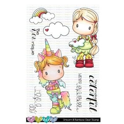 C.C. Designs Clear Stamps - Unicorn & Rainbow