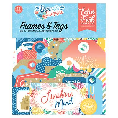Echo Park Dive Into Summer Die Cuts - Frames & Tags