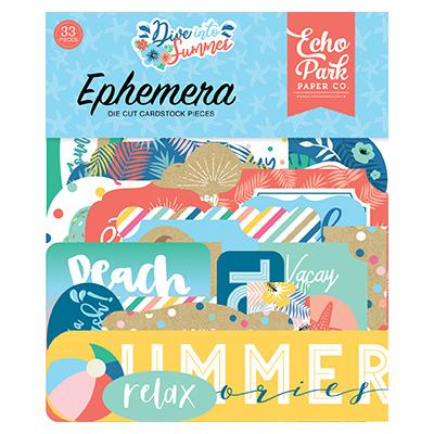 Echo Park Dive Into Summer Die Cuts - Ephemera