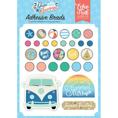 Echo Park Dive Into Summer Embellishments - Adhesive Brads