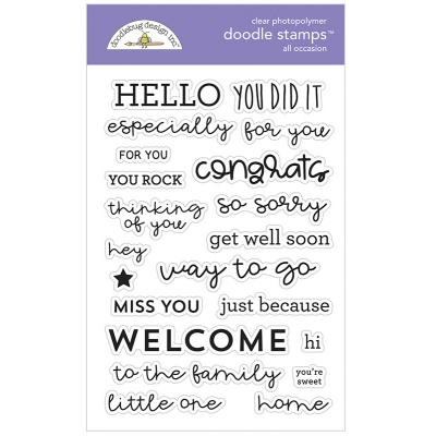 Doodlebug Design Doodle Clear Stamps - All Occasion