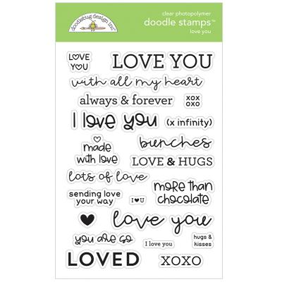 Doodlebug Design Doodle Clear Stamps - Love You