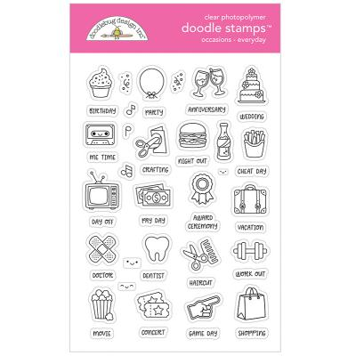 Doodlebug Design Doodle Clear Stamps - Occasions Everyday