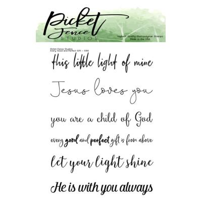 Picket Fence Studios Clear Stamps - Every Good and Perfect Gift
