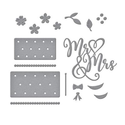Spellbinders Dies - Mr & Mrs Wedding Cake